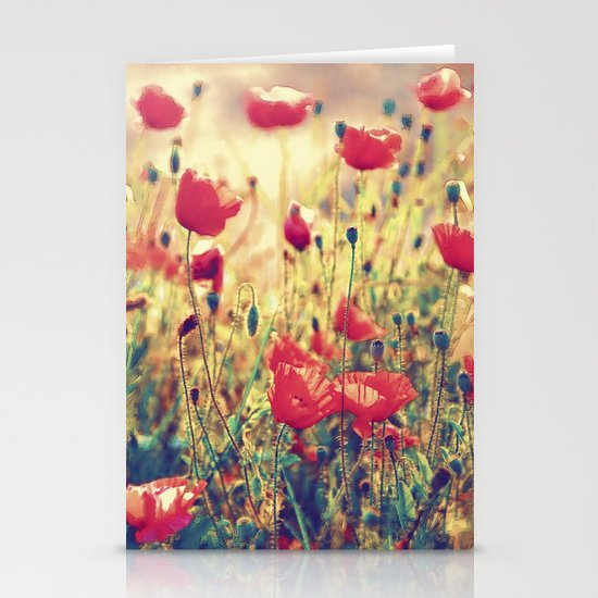 Morning Light - Poppy Field Stationery Cards