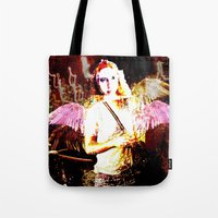 angels Tote Bags featuring Angels by Maya Kechevski