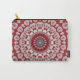 Red White Bohemian Mandala Design Carry-All Pouch