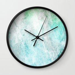 Mint Green Abstract Wall Clock