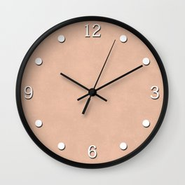 Peach suede. Wall Clock