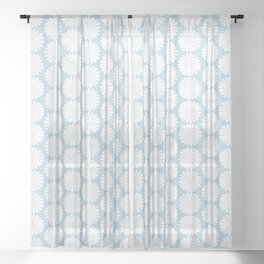 Floral Daisy Pattern XII Sheer Curtain