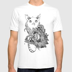 Inking Owl White Mens Fitted Tee MEDIUM