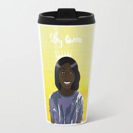 Slay Queen Dark Girl Illustration Travel Mug