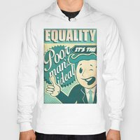 equality Hoodies featuring Equality by Sophie Broyd