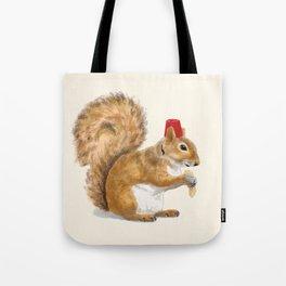 Fez Hat Squirrel Tote Bag