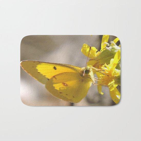 Sulphur Butterfly Imbibing Bath Mat