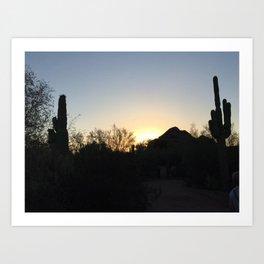 Arizona Silhouette Art Print