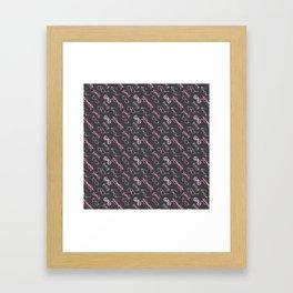 Pink Glasses Framed Art Print