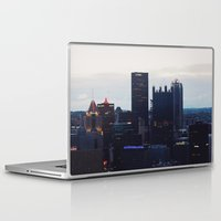 pittsburgh Laptop & iPad Skins featuring Pittsburgh Skyline by World_Perspective