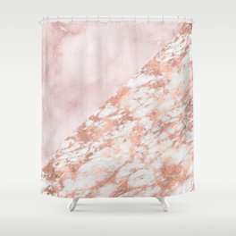 Rose gold & pinks marble Shower Curtain