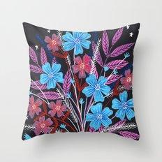 Night Bouquet Throw Pillow