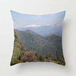 Distant Snow Topped Moutains from Cicekli Ula Throw Pillow