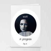 musa Stationery Cards featuring Work in progress by e. - MusA by Michela Ezekiela Riba