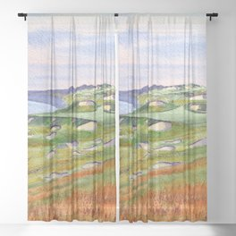 Whistling Straits Golf Course WI Hole 3 Sheer Curtain