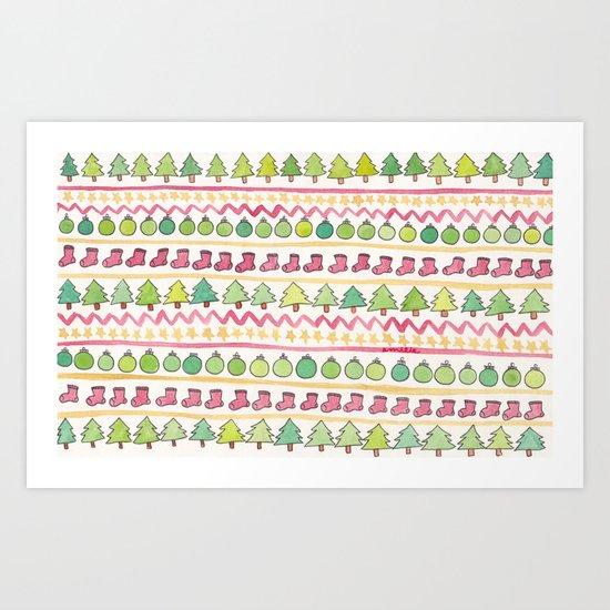 Christmas Pattern Art Print