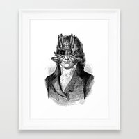 steampunk Framed Art Prints featuring Steampunk by DIVIDUS