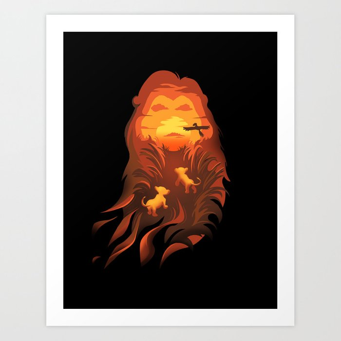 The Lion King Into The Wild Art Print By Alynspiller