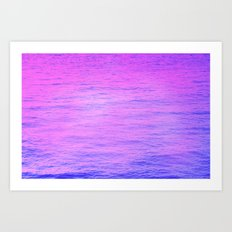 NEON PINK AND PURPLE GRADIENT OCEAN PATTEN Art Print