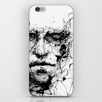 pen iPhone & iPod Skins featuring lines hold the memories by agnes-cecile