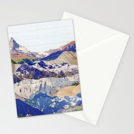 Graph Paper Skies Stationery Cards