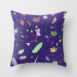 Inside the witchs's pocket Throw Pillow
