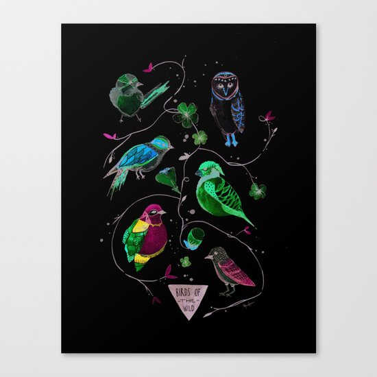 BIRDS OF THE WILD Canvas Print