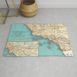 So Cal Surf Map Rug