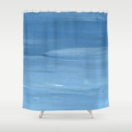 Blue Layers Shower Curtain