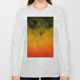 Sunset Abstract Facets Long Sleeve T-shirt