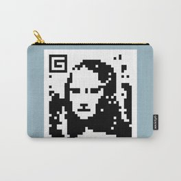 QR- Monalisa Carry-All Pouch