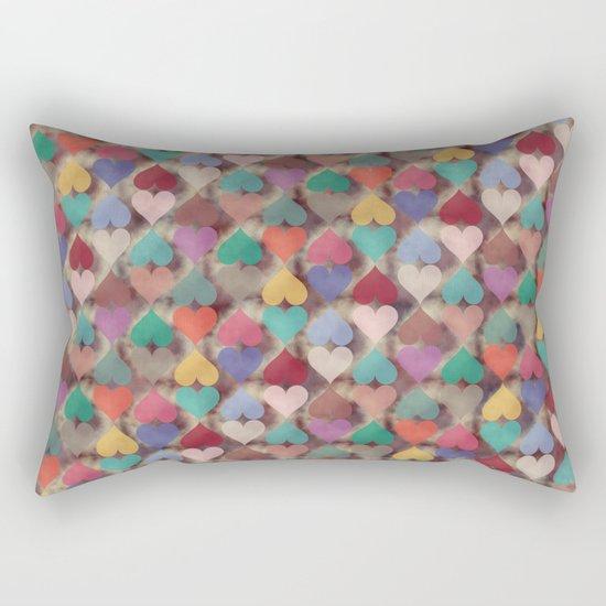 Colorful Love Pattern XI Rectangular Pillow