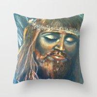 christ Throw Pillows featuring Christ by osile ignacio
