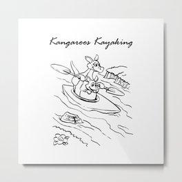 Kangaroo in the boat Metal Print