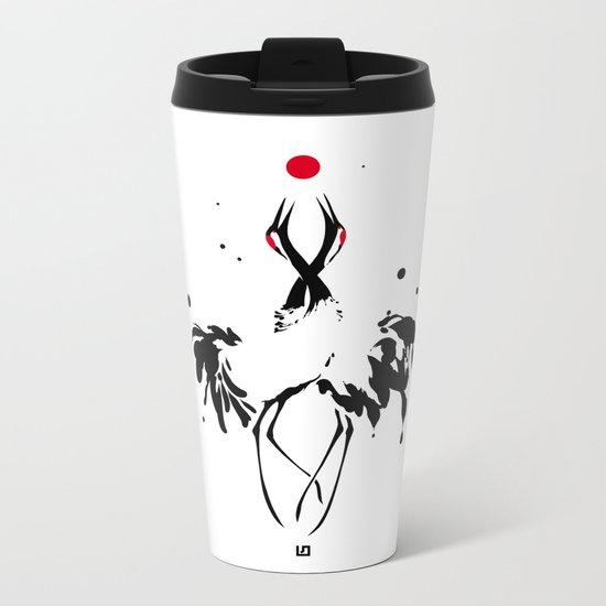transcenDance // (crane) Metal Travel Mug