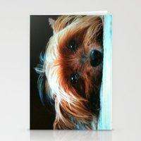 yorkie Stationery Cards featuring Yorkie Love by SunShineInMySky