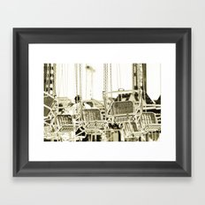 Travelling Chairs Framed Art Print