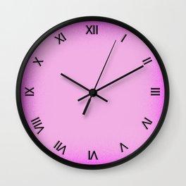 Pink Shimmer Wall Clock