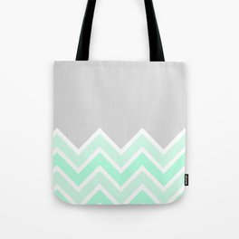 TWO-TONE MINT CHEVRON COLORBLOCK Tote Bag