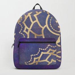 Mandala Chakra Copper and Purple Crown Chakra Backpack