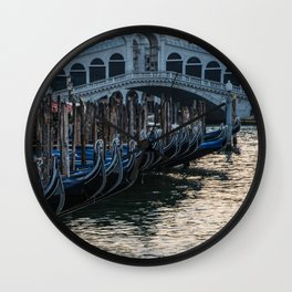 Postcards from Venice Wall Clock