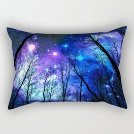 black trees purple blue space copyright protected Rectangular Pillow