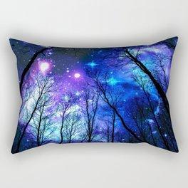 black trees purple blue space Rectangular Pillow