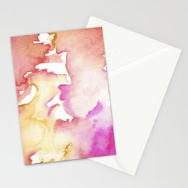 pink wash Stationery Cards