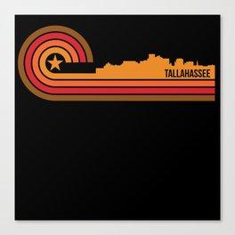 Retro Style Tallahassee Florida Skyline Canvas Print