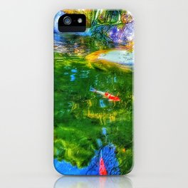 Glowing Reflecting Pond iPhone Case