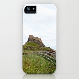 The twisted path towards Lindisfarne Castle atop a hill on Holy Island, Northumberland iPhone Case