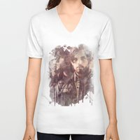 leon V-neck T-shirts featuring kings of leon by Nechifor Ionut
