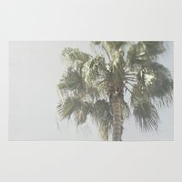 palm tree Area & Throw Rugs featuring Palm Tree by Pure Nature Photos