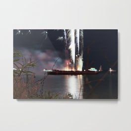 MV Fireworks: In the Distance Metal Print